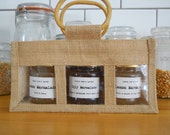 Trio of Preserves/Chutney/Jam in Jute Gift Bag