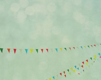 summer, sky, blue, green, carnival,  fine art photography