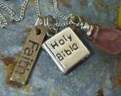 HAVE FAITH charm sterling Sundance Style necklace