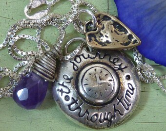 JOURNEY through TIME  charm sterling Sundance Style necklace