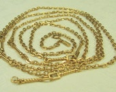 Storewide 20% Off Sale Vintage Gold Tone Chain Necklace signed Monet