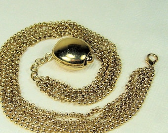 Gold Chain Necklace with Pendant 6 Strands
