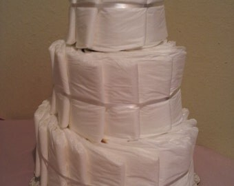 UNDECORATED 3 tier diaper cake
