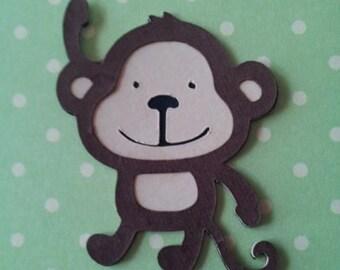 """set of 4 Monkeys 2.5"""" Die Cuts"""