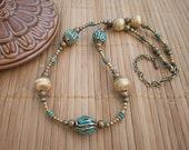 Brass & Turquoise Tibetan Bead Choker