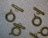 Chunky Brass Loop and Toggle Clasp Set