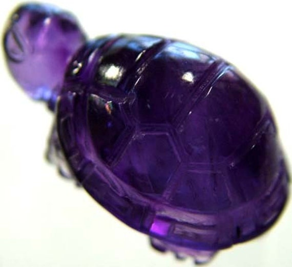 Sleep Soundly - Amethyst Turtle Carving - Reiki Charged FREE SHIPPING