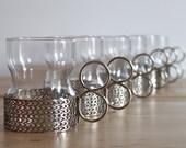 Mid Century Iittala Tsaikka Glassware by Finnish Designer Timo Sarpaneva - Scadinavian Drinking Cups Made in Finland (Set of 6)