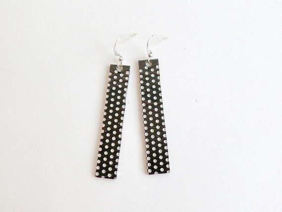 Circuit board geekery earrings Brown with dots - recycled computer ebr540 ready to ship