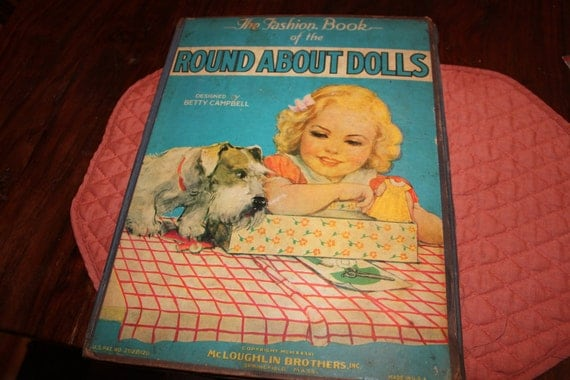 Antique Fashion Book of Round About Dolls, paper dolls