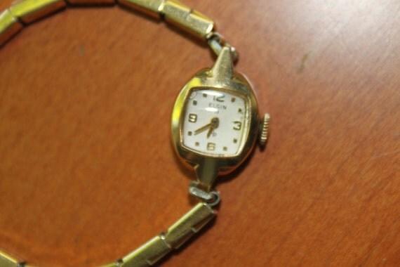 Ladies Vintage Elgin Watch, 10K Gold Filled
