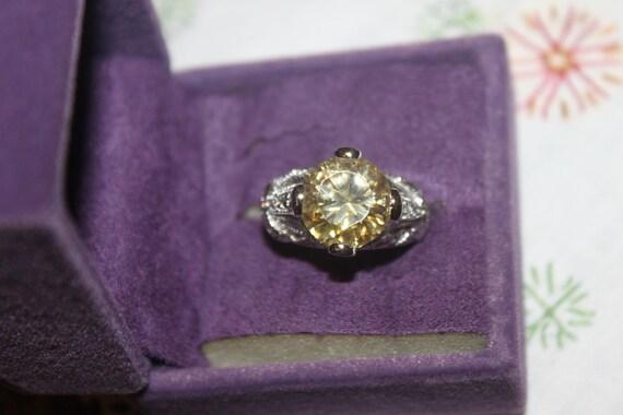 Sterling & Citrine Cocktail Ring