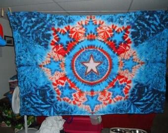 Tie Dye Tapestry ~ 2011 Star Mandala - 035- 075