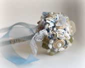 Beach Wedding Bouquet seashells and sea glass