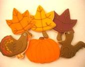 Thanksgiving Sugar Cookies - 1 Dozen