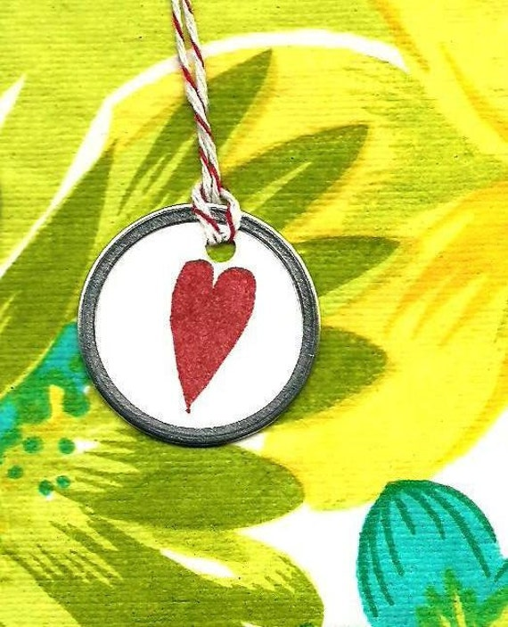 SALE: Petite Hearts for Your Gift of Love -  4 round tags