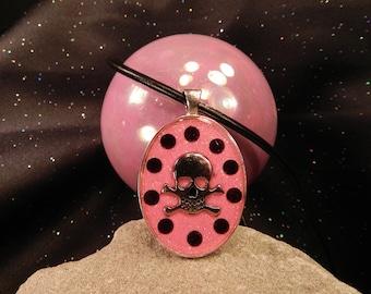 Pink Glitter Skully