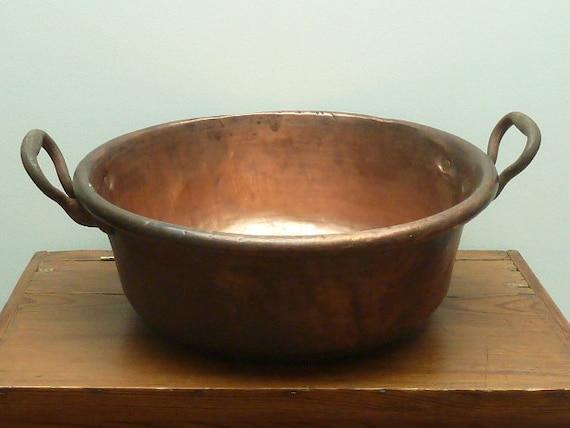 Vintage French Heavy Copper Confiture Pot