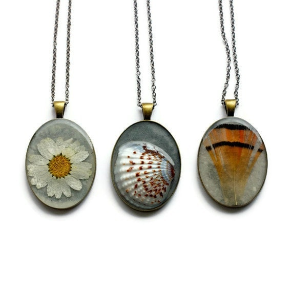 resin jewelry set earth sea sky necklaces real pressed botanical Pendant Jewelry resin jewelry boho chic prairie nautical