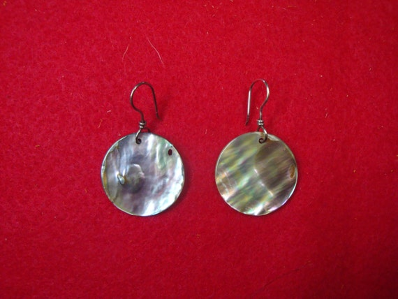 Hand Wire Wrapped Abalone Earrings - AB1-02