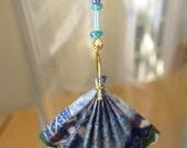 Origami Fan Dangling Earrings