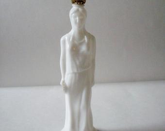 Vintage Avon Bottle Milk Glass Greek Goddess