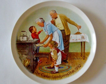Vintage Csatari Plate The Cookie Tasting 1982 Collectible