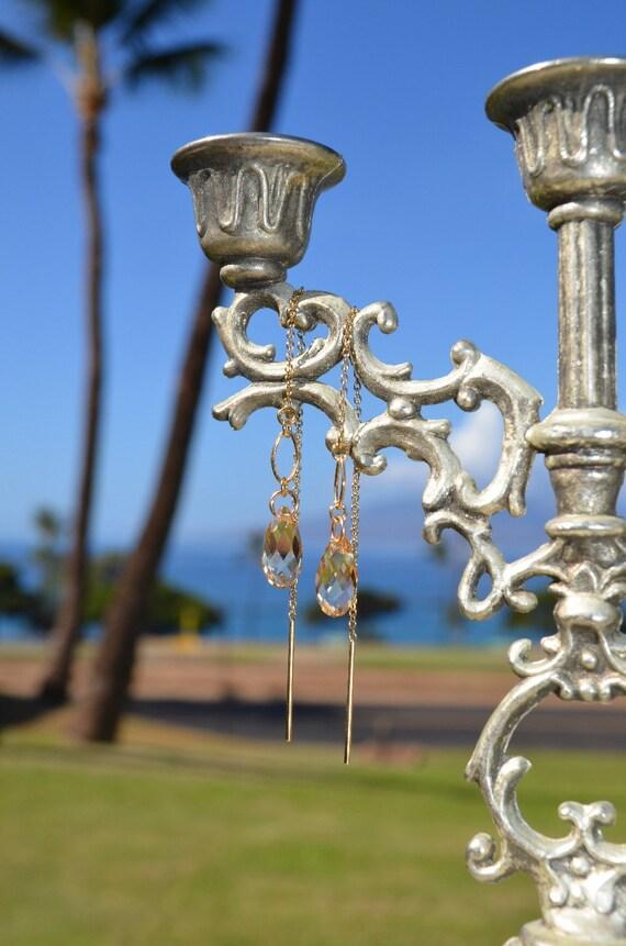 Champagne Threader Earrings