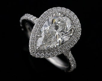 Diamond Cut Down Micro Pave 14k White Gold Engagement Ring With 1ct Citrine Stone