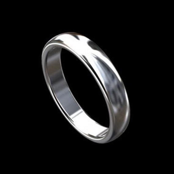 Simple Mens Ring Classic Gold Mens Wedding Ring