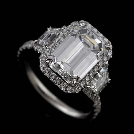 Platinum Micro Pave Cut Down Diamond Engagement Ring Mounting