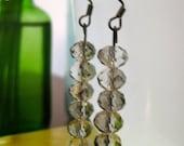 Smoky Quartz Swarovski Earrings by PHOENIX