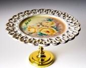 Cupcake Stand & Serving Pedestal - Ornate Gold Gilded
