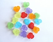 Transparent Acrylic Flower Beads