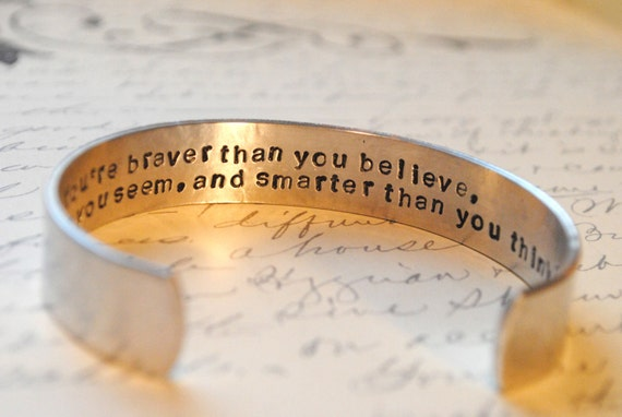 Custom Personalized Secret Message Cuff Bracelet