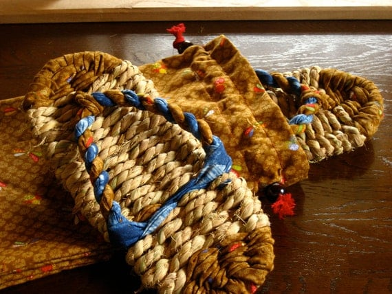 Straw Sandals, Japanese Warazori  (24 cm) with Carrying Bag