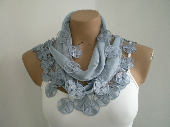 Gray Scarf Cotton Scarf Women Scarves