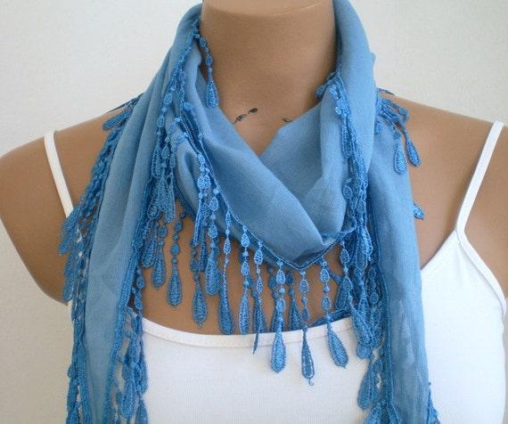 Denim Blue Scarf Cotton Scarf Women Scarves Summer Fashion
