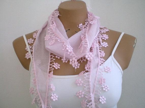 Light Pink Scarf Summer Fashion Woman Scarf