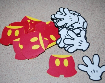 """Die Cut Mickey Mouse pants & Gloves (50) 2"""""""