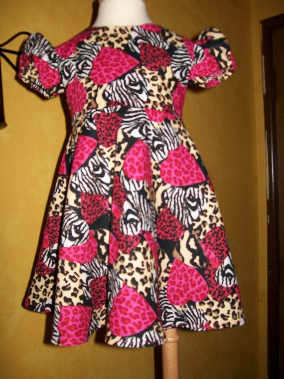 Wild At Heart Toddler Dress -   12-18 months - Clearance - Ready to ship