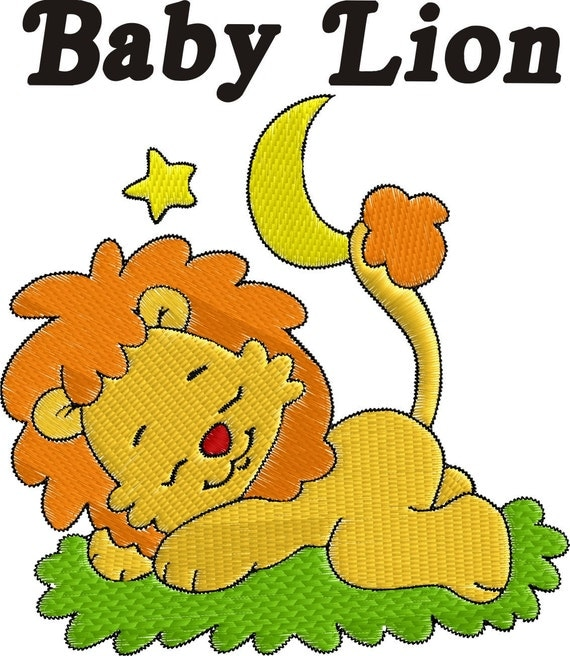 Digital Download - Baby Lion Embroidery Designs - 10 Designs