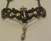 Steampunk Victorian Necklace - Key to the Belfry