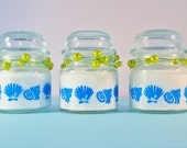 "3 Beach Theme Candle, Wedding Favors, ""Shells"" Home Decor by Green Orchid Design Studio"