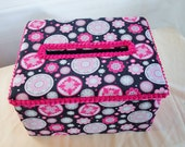 Wedding Card Box Fushia, Pink and Black by Joanne at Green Orchid Design Studio