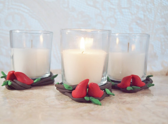 3 Love Birds Candles, Candle Holder, Wedding Lighting, by Green Orchid Design Studio