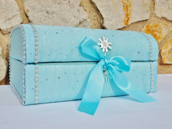 Wedding Gift Card Box Beach Theme : Gift Card Box, Beach Wedding, Wedding Decor, Gift Box, Aqua, Green ...
