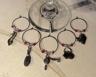 Ladies Night In Wine Charms - Wine Markers