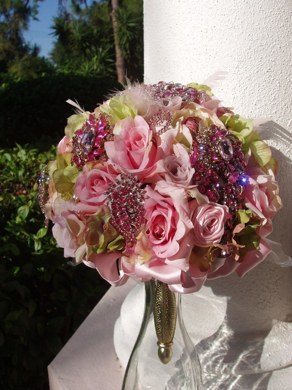 wedding bouquet holder items similar to custom order brooch jeweled bouquet 8458