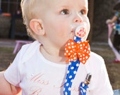 Gators Pacifier Clip with Adorable Orange Bow Attached